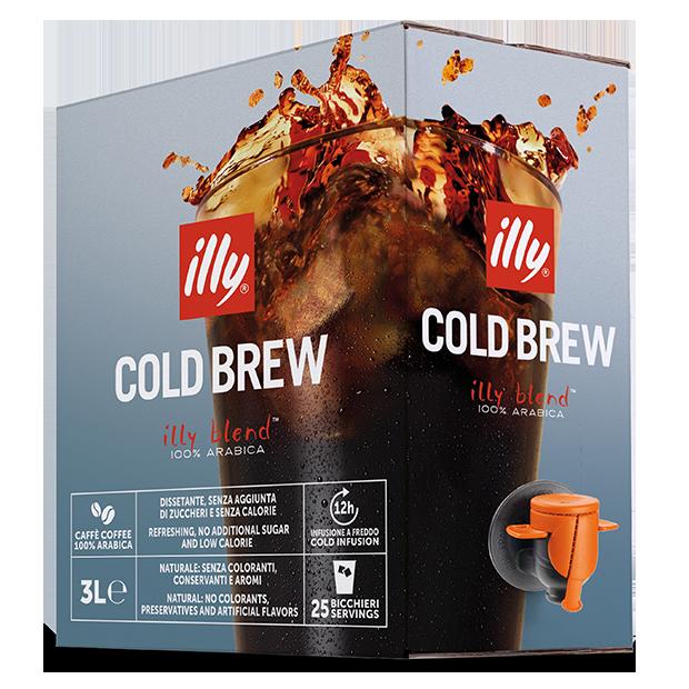 קפה בחליטה קרה - 3 ליטר illy cold brew