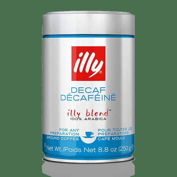 250 גרם illy טחון לאספרסו נטול קפאין