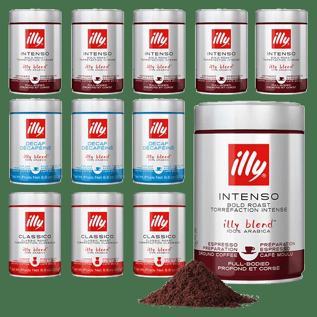 12 יח' illy קפה טחון – אריזות 250 גרם