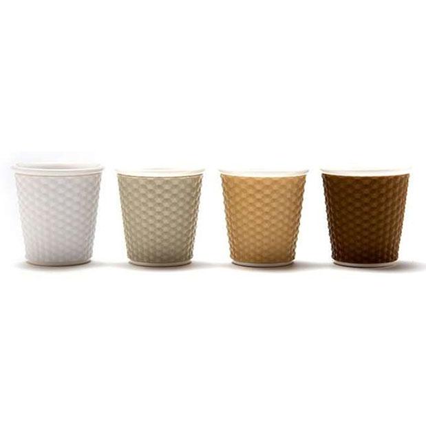 """סט 4 כוסות אספרסו פורצלן עם שרוול סיליקון 80 מ""""ל - FOOD APPEAL לרוחב"""