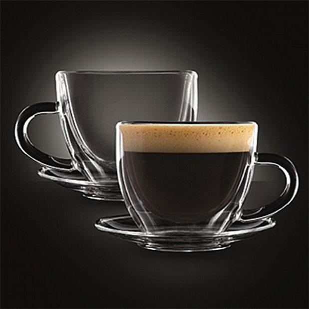 """זוג כוסות זכוכית כפולה- 80 מ""""ל - דגם קונגו 2"""