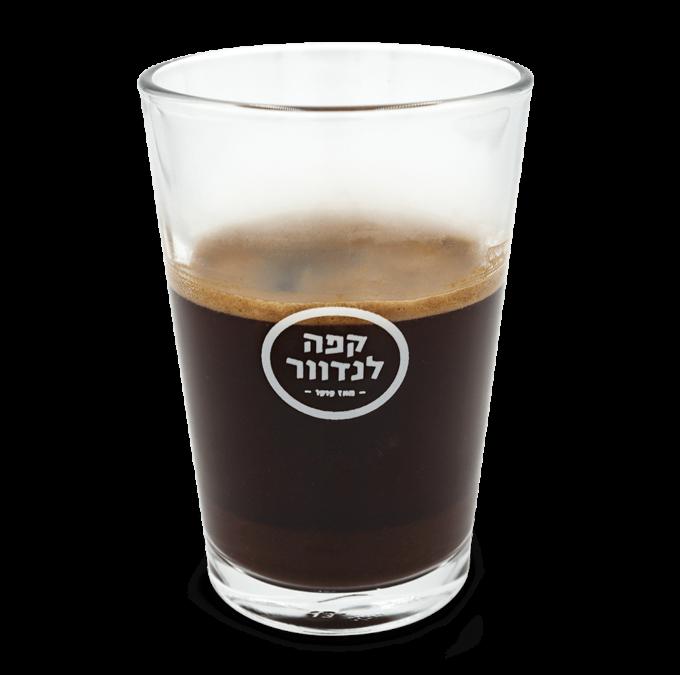 ספל זכוכית - קפה שחור - קפה לנדוור