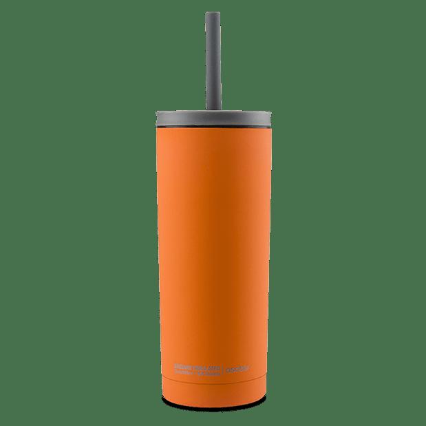 כוס טרמית עם קש - Asobu Super sippi כתום
