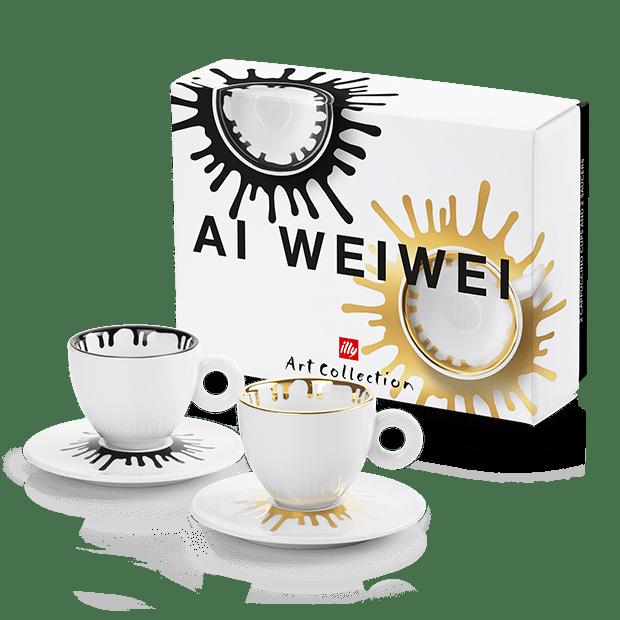 illy Art Collection Ai Weiwei - סט 2 ספלי קפוצ'ינו