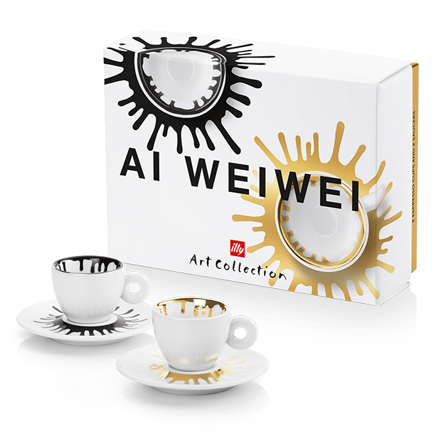illy Art Collection Ai Weiwei - סט 2 ספלי אספרסו