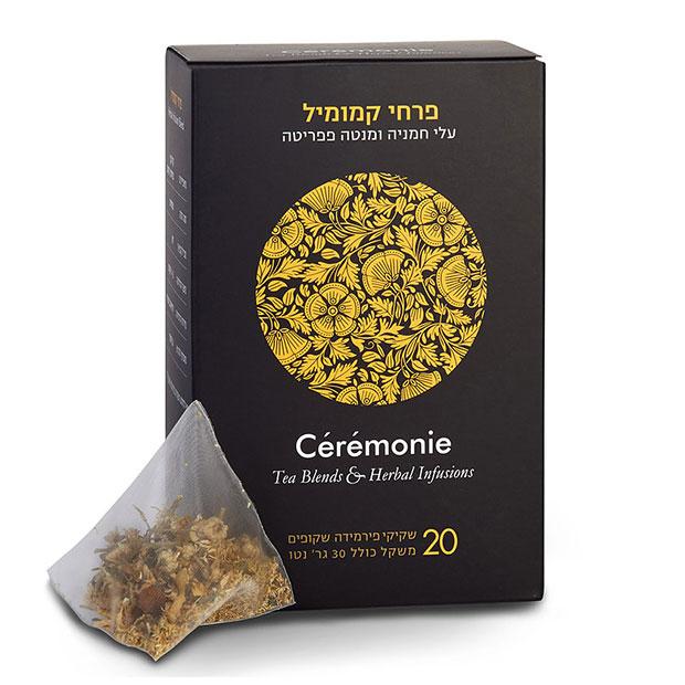 תה סרמוני - פרחי קמומיל פירמידות - 20 יח'