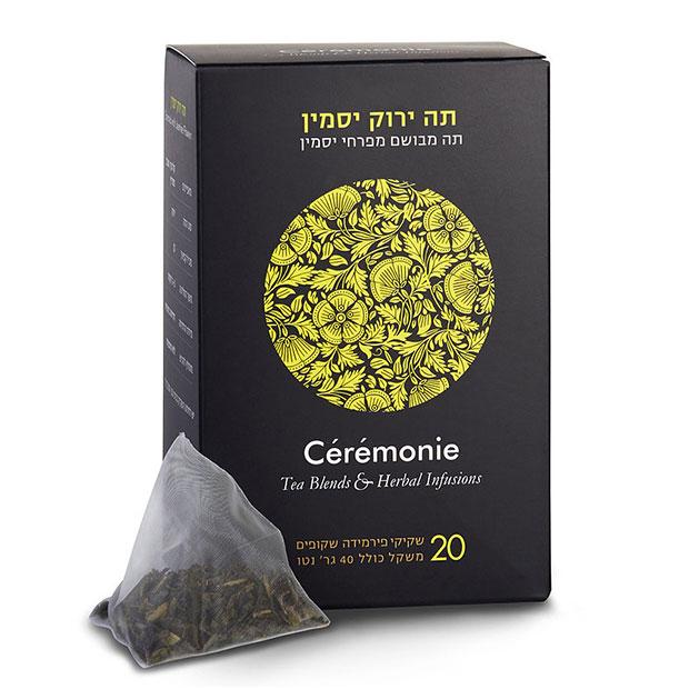תה סרמוני - תה ירוק יסמין פירמידות - 20 יח'